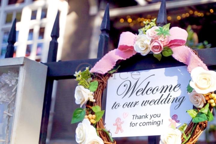 結婚式の入り口
