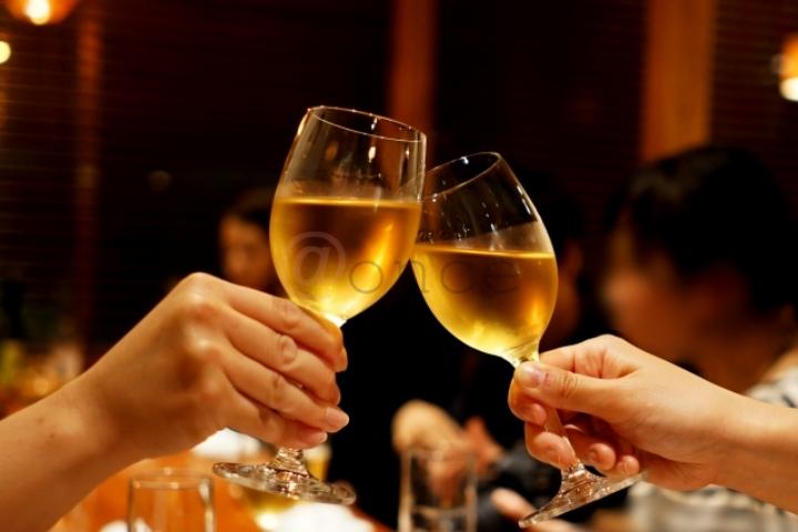 デートの乾杯